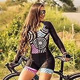 Combinaison de maillot de cyclisme pour femmes Triathlon Ensemble d'uniformes de vélo de route pour femmes Maillot de bain (Color : 5, Size : Medium)
