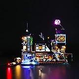 BRIKSMAX Kit de Iluminación Led para Lego Ninjago Muelles de la Ciudad,Compatible con Ladrillos de Construcción Lego Modelo 70657, Juego de Legos no Incluido