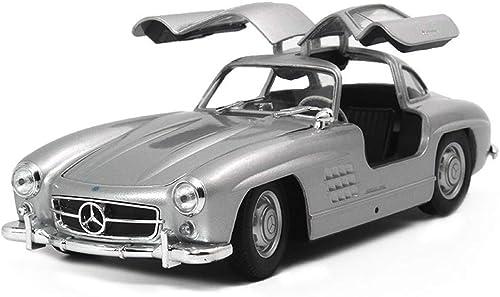 suministramos lo mejor KaKaDz Wei KKD Escala Modelo Simulación Vehículo Vehículo Vehículo Angel Wings 1 24 Mercedes - Mercedes 300SL Classic Sports Jupiter Adult Collection para Niños Juguetes para Niños (Color   plata )  precios bajos todos los dias