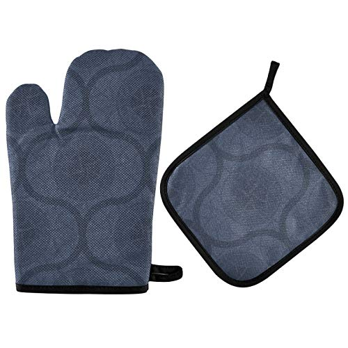 UMIRIKO Morocco Buffalo Check 2021832 - Juego de 2 manoplas de horno resistentes al calor, guantes de cocina para cocinar barbacoas