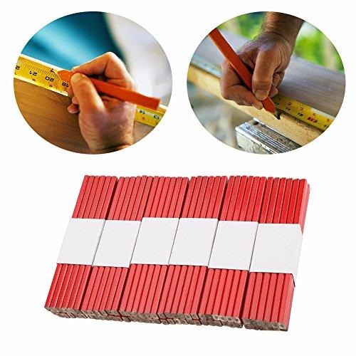 Zimmermann Bleistift, Holzbearbeitung Bleistifte 72 Stücke 175mm harte schwarze Mine Holzbearbeitung Markierungswerkzeug zum Markieren und Anzeichnen auf der Baustelle
