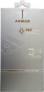لاصقة حماية للشاشة ضد اشعة البلو راي من ارمور لاتش تي سي U11 مع جراب خلفي شفاف