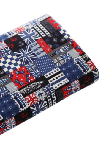 [Anglais] Heure 53,3 cm Large handworked Tissu en coton à motif noir 44,5 x 53,3 cm