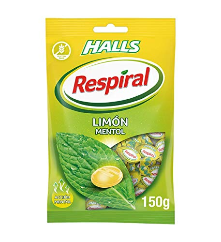 Respiral Limón Mentol Caramelo Duro Refrescante, 150g
