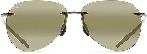 Maui Jim Sunglasses | Sugar Beach H421 | Rimless Frame, Polarized Lenses, with Patented PolarizedPlus2 Lens Technology