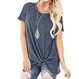 Camiseta para Mujer Camisa de Manga Corta de Verano Blusa Suelta Casual Camisa de Verano Casual Manga Corta Camiseta Tops Blusa,B,L