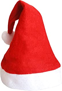 MEI XU Santa Hat, Xmas Hat, Father Christmas Hat Adults Deluxe Plush Santa Claus Hat Costume Christmas @ (Color : A, Size ...