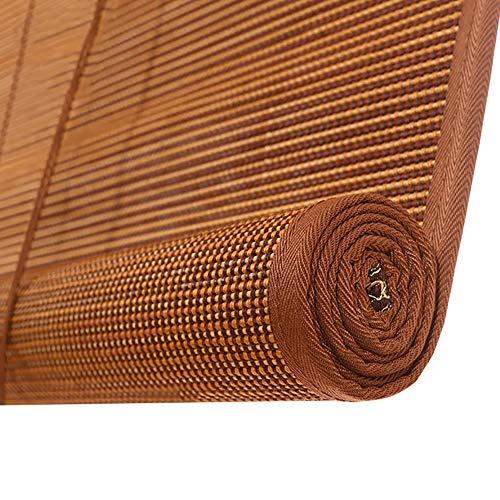 Persianas enrollables Persiana Estores enrollables Marrón Sombra Enrollable de Bambú, Jardín Gazebo Pérgola Terraza Balcón Porche, 70 cm / 85 cm / 105 cm / 125 cm / 135 cm de Ancho