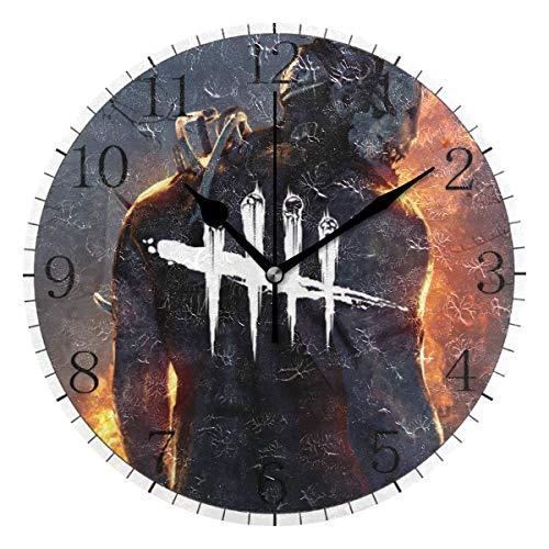 yongxing Dead by Daylight - Reloj de pared con diseño redondo, silencioso, sin cuchillo, arte decorativo a pilas (10 pulgadas)