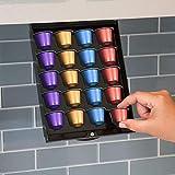 EZ-Shelf Coffee Pod Holder for Nespresso Original Line Pod Capsules | Under Cabinet, Storage Drawer Tray Organizer (for Nespresso OriginalLine Only)