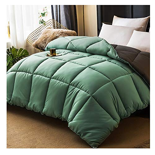 Best Prices! ZYFDT Quilt Duvets Bed Throws Green Polyester Material Ideal for Home Bedding (Color : ...