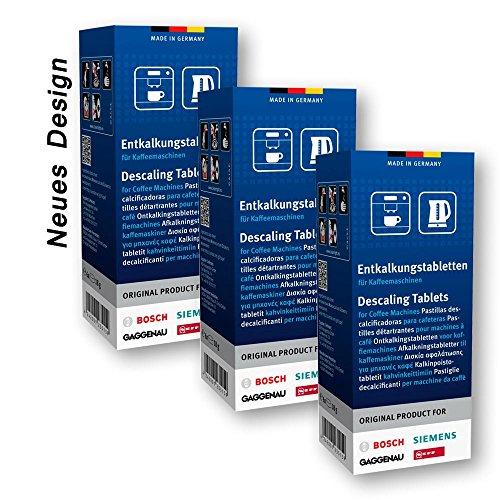 3x 6 ORIGINAL Bosch Siemens Entkalkungstabletten Entkalker Tassimo BSH 310967