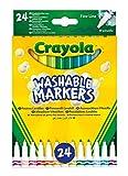 CRAYOLA-58-6571 CRAYOLA 24 Súper Maxi Punta Rotuladores lavables, Multicolor (58-6571) , color/modelo surtido