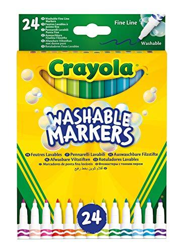Crayola-24 Whiteboard-Marker, feine Spitze, Sortiert, für Schule und Tempo Libero, Color, 58-6571
