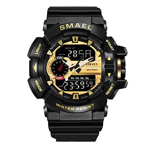 YaGFeng Calendario Simple para Hombres Esfera Luminosa Reloj De Cuarzo para Hombres Al Aire Libre Reloj De Cuarzo para Hombres Ocio Deportes Al Aire Libre Reloj Luminosol,BlackGolden