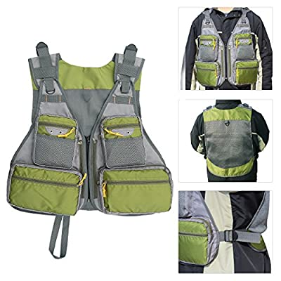 Adjustable Fly Fishing Vest Mesh Waistcoat Multi-pocket Vest Backpack with Hard Shell Storage Fly Lure Bag Outdoor Fishing Safety Jacket Premium Gear Packs Vests from Shaddock Fishing