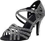 Zapatos de baile de tacón personalizado para mujer, estilo latino, moderno, Rumba, tango, novia, boda, salón de baile, fiesta, zapatos, color Dorado, talla 36.5 EU