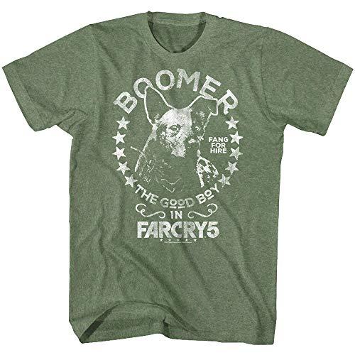 American Classics Far Cry Boomer - Camiseta de Manga Corta para Hombre, diseño Militar, Color Verde - - 2X
