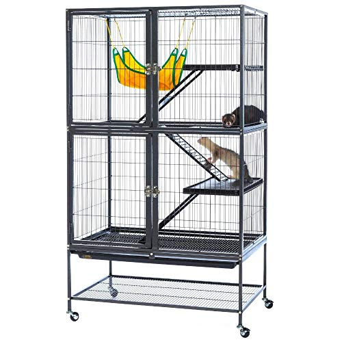 NAKSHOP Pet Hamster Cage Best Large Crate Ferret Guinea Pig Rabbit Bunny Mouse Chinchilla Rat Squirrel Metal Home Homey Animal Bedding Super Indoor Outside and eBook