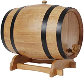 Tonneau de vin, Distributeur de fûts de vin en chêne 10L, stockage de whisky en bois Spirit Brewing Storage Demijon Garden...