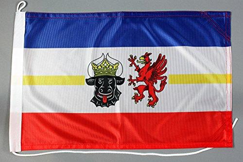 Bootsflagge Mecklenburg Vorpommern 30 x 45 cm in Profiqualität Flagge Motorradflagge