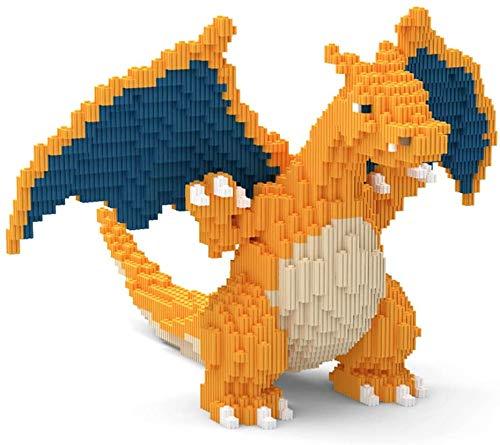 LAL6 Building Block, Édifice De Modèle Pokemon Building Block Set + 2433 Pcs Anime Mini Blocs Jouets DIY, Charizard 3D Puzzle Jouet Éducatif DIY, Convient Aux Enfants,Adult