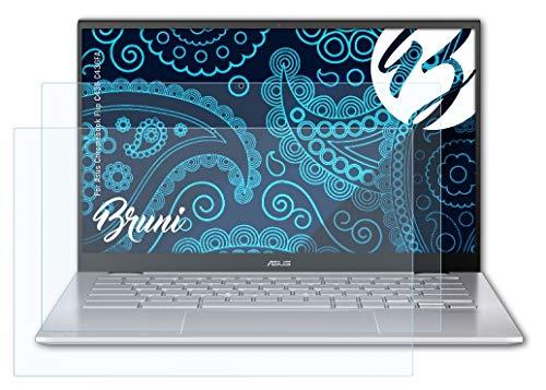 Bruni Schutzfolie kompatibel mit Asus Chromebook Flip C436 C436FA Folie, glasklare Bildschirmschutzfolie (2X)