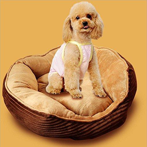 Hung Kai Jumbo Koord/Pluche Hond Bed,Deluxe Zacht Wasbaar Hond Huisdier Warm Bed Kussen, small_dogs, BRON