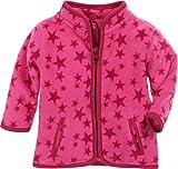Schnizler Unisex Baby Jacke Fleece Sterne, Rosa (Pink 18), 68