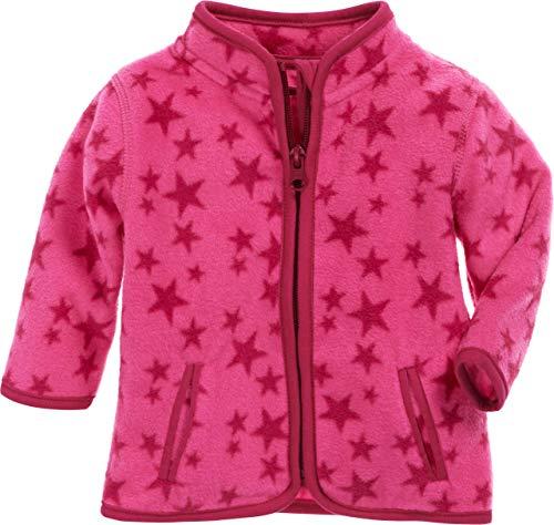 Schnizler Unisex Baby Jacke Fleece Sterne, Rosa (Pink 18), 56