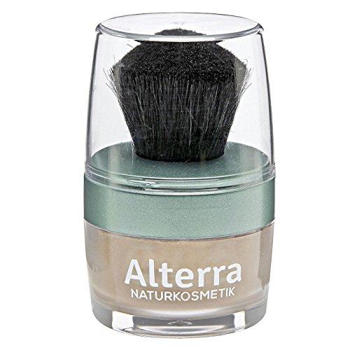 Alterra Loser Mineralpuder 7 g Farbe 03: Sand, inkl. Puderpinsel, mit Granatapfelextrakt, ohne synthetische Konservierungsstoffe, zertifizierte Naturkosmetik, vegan