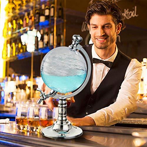 smilerr -11 Conjunto de decantador de Whisky Globe, dispensador de Vino de 1.5L Dispensador de líquido de Cerveza para decoración del hogar Pourers de Vino Bar Cocina, dispensador de Vino + Top Sale