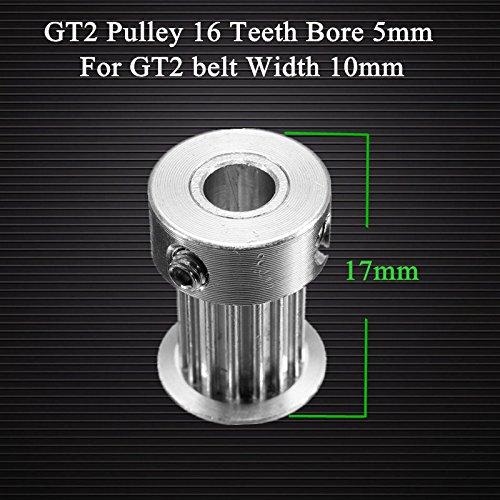 Doradus GT2 poulie 16 dents portaient 5mm alumium de pignon de distribution pour la ceinture GT2 largeur 10mm accessoires 3D de l'imprimante
