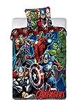 BrandMac Avengers Marvel Bettwäsche 200 x 135, 80 x 80 100% Baumwolle
