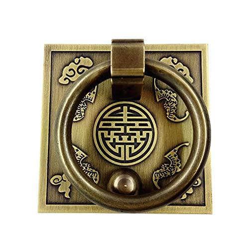 Tiazza Chinesischer Stil Messing Ring Ziehgriff Set Küchenschränke Kleiderschrank Schublade Klassische Möbel Dekoration Klassisch Reines Kupfer Griff