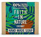 Faith in Nature Jabón de Manos Natural de Coco, Hidratante, Vegano y No Testado en Animales, sin Parabenos ni SLS, 100 g