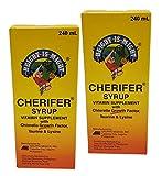 2 Cherifer Syrup Chlorella Growth Factor, Taurine & Lysine 240ml Each