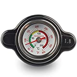 Beyda TapóN de Radiador de Alta PresióN con Indicador de Temperatura, TapóN de Radiador de 1,8 Bares 25,6 PSI para,