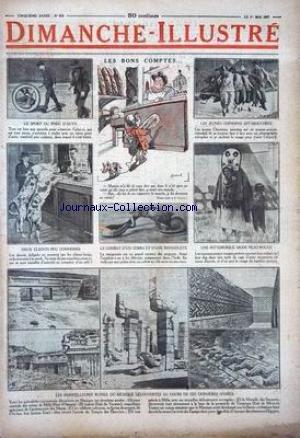 DIMANCHE ILLUSTRE [No 218] du 01/05/1927 - LE SPORT DU PNEU D'AUTO - LE COMBAT D'UN COBRA ET D'UNE MANGOUSTE - LES MERVEILLEUSES RUINES DU MEXIQUE DECOUVERTES AU COURS DE CES DERNIERES ANNEES - MODE PEAU-ROUGE - LES JEUNES CHINOISES EFFAROUCHEES -