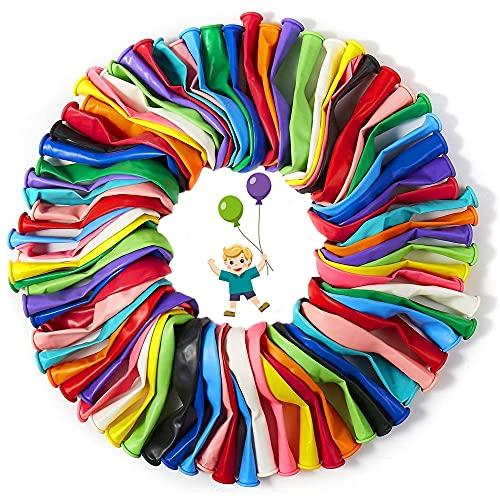 Luftballons Bunt 200 Stück in 20 Farben Wundervollen Farben für Geburtstag, Party & Deko, Langlebige Premium Ballons Luft/Helium Luftballon, Hochzeit, Garten Party, Babytaufe Dekoration