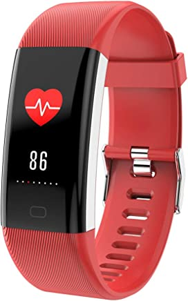 PQW Bright Activity Tracker smartwatch Large Screen Intelligent Healthy Heart Rate Blood Pressure Monitoring Hand Ring 22x1.8x1.3cm Corsa