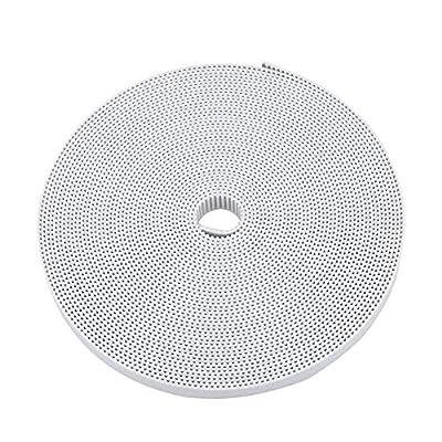 ASHATA GT2 Belt 3D Printer Accessories GT2 Timing Belt 10mm Rubber Synchronous Belt (White 10m)