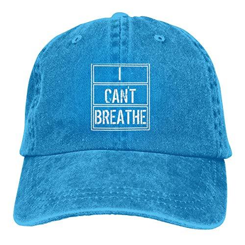 Harla I Cant Breathe M Gorras de béisbol Ajustables Sombreros de Mezclilla Sombrero de Vaquero Retro Gorra para Hombres Mujeres Deporte al Aire Libre
