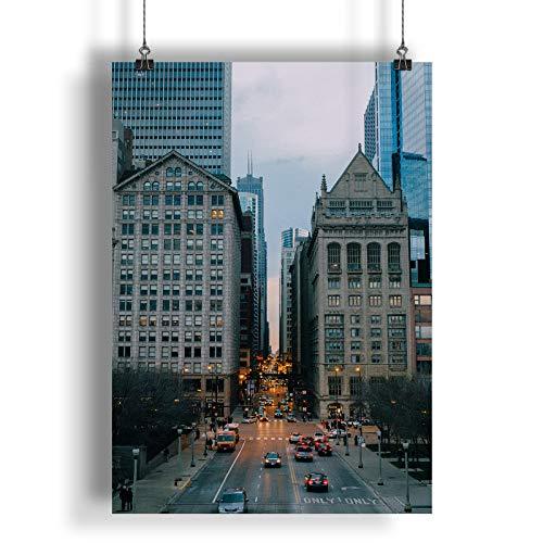INNOGLEN Grattacieli di Chicago City Building A0 A1 A2 A3 A4 Satin Foto Poster a1403h
