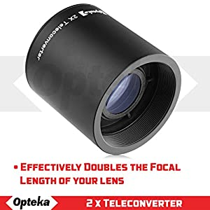Opteka 500mm f/6.3 (with 2X- 1000mm) Telephoto Mirror Lens for Canon EF-Mount EOS 90D, 80D, 77D, 70D, 60D, 50D, 7D, 6D, 5D, 5DS, 1DS, T8, T8i, T7i, T7s, T7, T6s, T6i, T6, T5, SL3 and SL2 DSLR Cameras