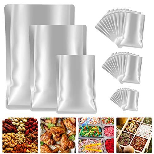 GXAO Mylar Bags for food storage, 30 Pieces 3 Sizes Metallic Mylar Aluminum Foil Flat Heat Sealing...