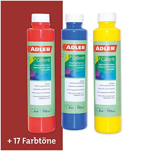 ADLER AVIVA Colorit-AF 501 Weinrot 250 ml Volltonfarbe Abtönfarbe Wandfarbe