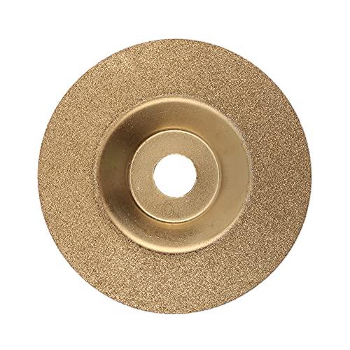 JIAN LIN 100 mm 4 pulgadas Diámetro Doble Lateral for Piedra de Azulejo Cerámica Cerámica Sierra Sierra Hoja Abrasivo Moledor Corte Discaro Dorado Plata (Color : Bowl shape gold)