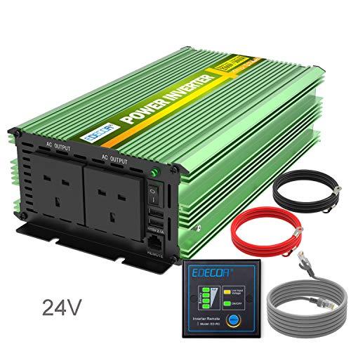 24V DC to AC 220V 240V inverter converter with Socket and USB Port,12V to 110V,500W 1000W XDDXIAO Auto Pure Sine Wave Inverter 500W 2000W DC Power Inverter 12V 230V