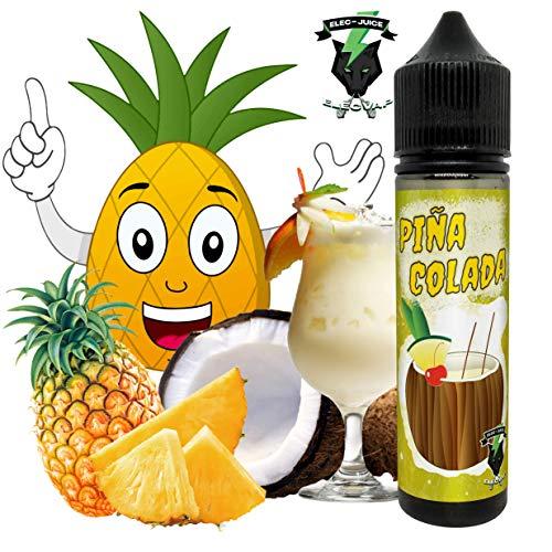 E-Liquid OASIS PIÑA COLADA PAR ElecVap - Sans Nicotine NI TABAC- Format TPD 60ml - 0MG Nicotine - E-Liquide pour Cigarettes Electroniques - E Vape Liquids vapoteuse